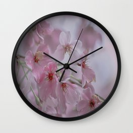 Delicate Pink Blossoms Wall Clock