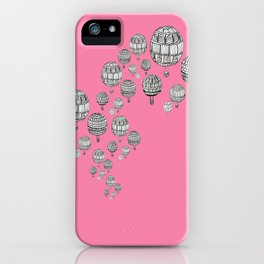 balloons in the pink iPhone Case