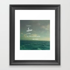 Deeper Than the Ocean Framed Art Print