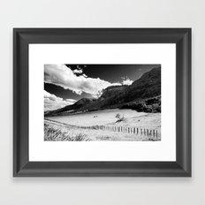 Loan Horses Grazing Framed Art Print