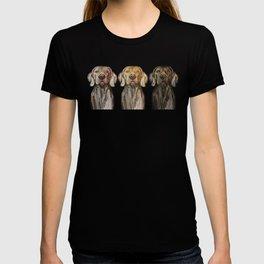 Triple Hunting Dogs in Dark T-shirt