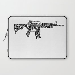 Pew Pew AR-15 Laptop Sleeve