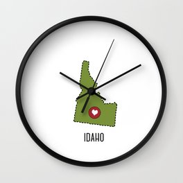Idaho State Heart Wall Clock