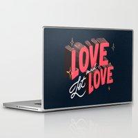 lesbian Laptop & iPad Skins featuring Love & Let Love by Jillian Adel
