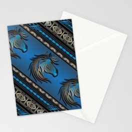 Horse Nation (Blue) Stationery Cards