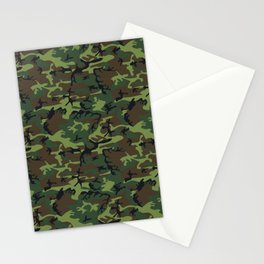 U.S. Woodland Camo Stationery Cards