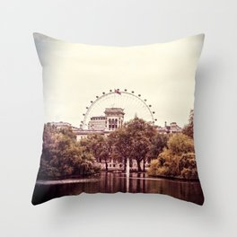 Whitehall & the London Eye from St James's Park Throw Pillow