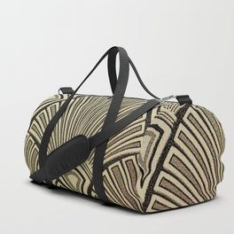 Golden Art Deco pattern Duffle Bag