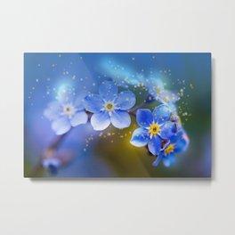 """Blue Star"" Metal Print"