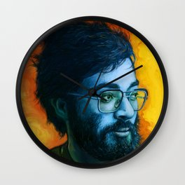 Asian Dude with Glasses Wall Clock