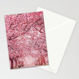 Cherry Blossom in Greenwich Park Stationery Cards