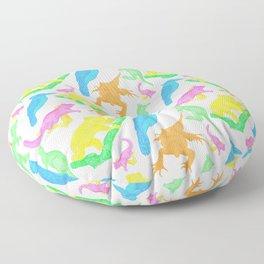 Beautiful Bright Australian Native Animals Floor Pillow
