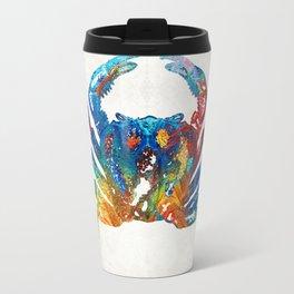 Colorful Crab Art by Sharon Cummings Travel Mug