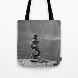 Rock balancing on the mountain Tote Bag