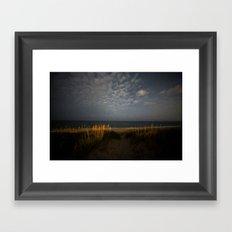 Beach Night Framed Art Print