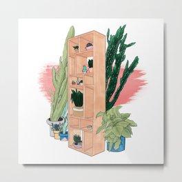 Office Plants Metal Print