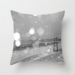 Short Beach Throw Pillow