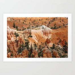walking the hoodoos Art Print