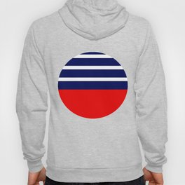 Summer Patio Perfect, Red, White & Navy Hoody