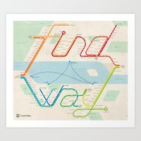 """Find a Way"" Map Art Print"
