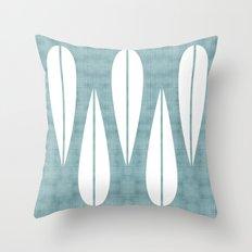 Make Mine MCM Blue Throw Pillow