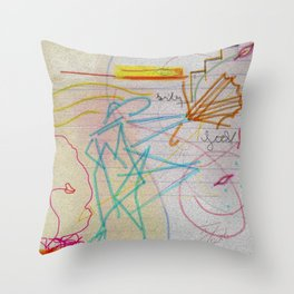 STORM BLOWING KISS Throw Pillow