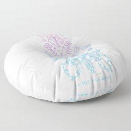 La Vie + La Mort: Rose Quartz & Serenity Ombré Floor Pillow