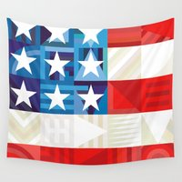 america Wall Tapestries featuring America by Fimbis