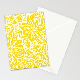 Gen Z Yellow Marigold Lino Cut Stationery Cards