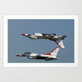 US Airforce Thunderbirds Art Print