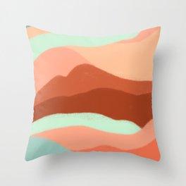 Abstract in Desert Throw Pillow