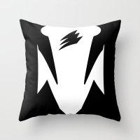 power ranger Throw Pillows featuring Black Spirit Ranger by JoSumdac