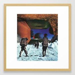 On The Ice Framed Art Print