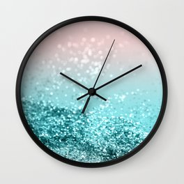 Tropical Summer Vibes Glitter #2 #decor #art #society6 Wall Clock