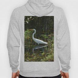 White Egret Hoody