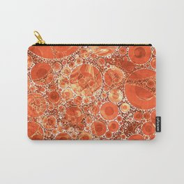 Rust Orange Bubble Abstract Carry-All Pouch
