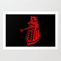 dalek Art Prints featuring Dalek by InvaderDig