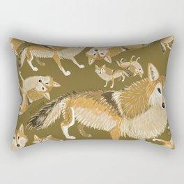 Tibetan wolf (pattern) Rectangular Pillow