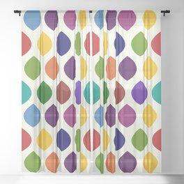 Rainbow Lemon Shapes Sheer Curtain
