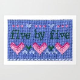 Five by Five Art Print