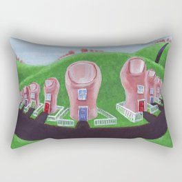 Toe Town Rectangular Pillow