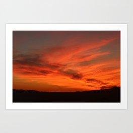 Red and Orange October Sunset Art Print