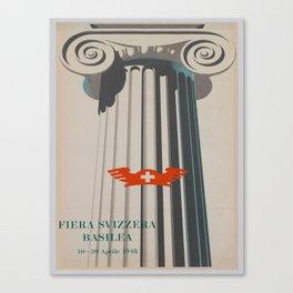 Vintage poster - Fiera Svizzera Basilea Canvas Print