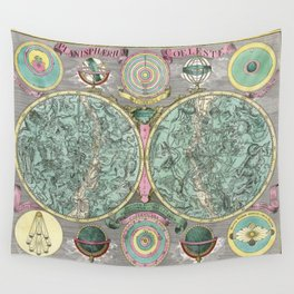 Vintage Astronomy Chart - Star Chart - Circa 1772 Wall Tapestry
