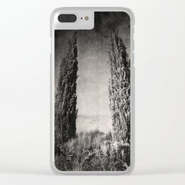 Umbrian Cypress Clear iPhone Case