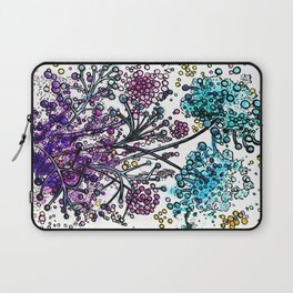 Purple floral watercolor abstraction Laptop Sleeve