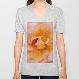 Orange ,Rosa Rose Unisex V-Neck