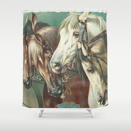 Vintage Circus Horses Shower Curtain