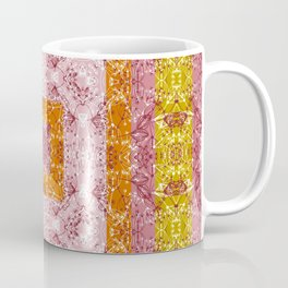 Colorful abstract pattern, patchwork, multicolored, plaid, multicolored plaid, bright, ethnic Coffee Mug