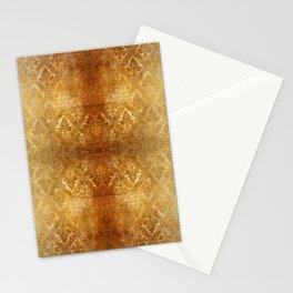 AGED GOLDEN DAMASK  Stationery Cards